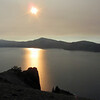 July 13, 2012.  Sunset over Crater Lake National Park, Oregon.