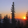 July 30, 2010. Sunset from the repeater station, Oregon Caves NM, Oregon.