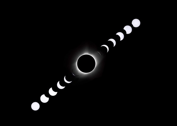 Eclipse Series over Three Hours