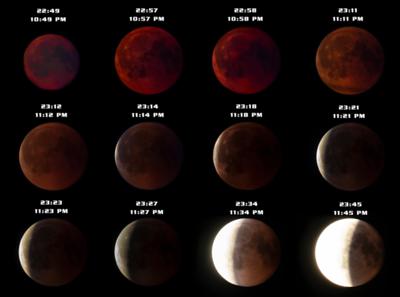 Total lunar eclipse (blood moon) Sweden 18-07-27