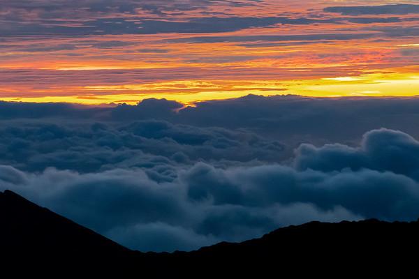 Moonset and Sunrise at Haleakala 10/14