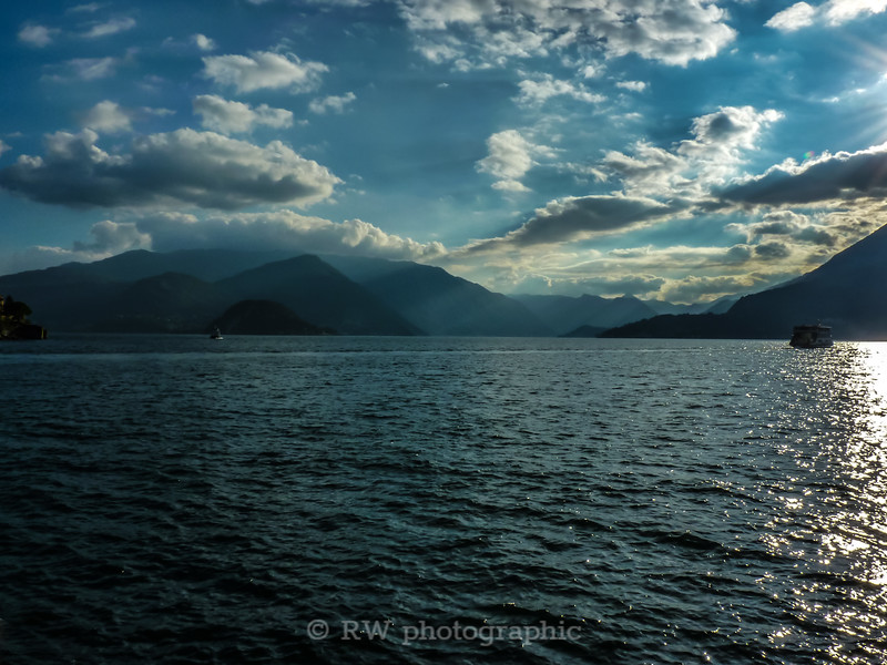 Late afternoon sun over Lake Como