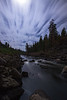 Fast moving clouds over the Deschutes River