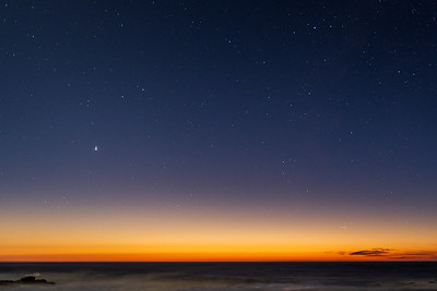 Great Conjunction at Sunset