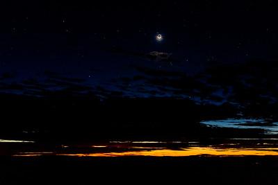 Moonset and Sunrise at Haleakala 2/14