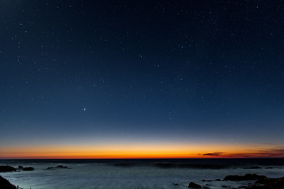 Great Conjunction with Flowing Waves