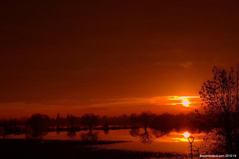 Sunset at Tewkesbury