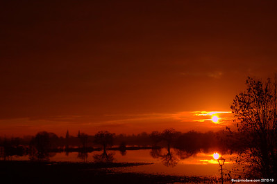 Sunset at Tewkesbury