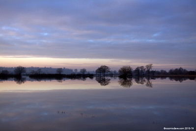 Dusk at Tewkesbury