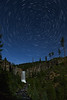 Star trails over Tumalo Falls