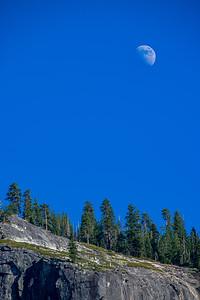 Moon at Yosemite