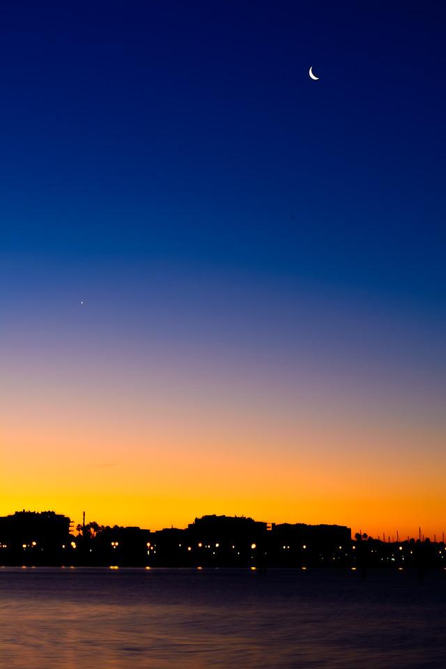 Moon and Sunrise