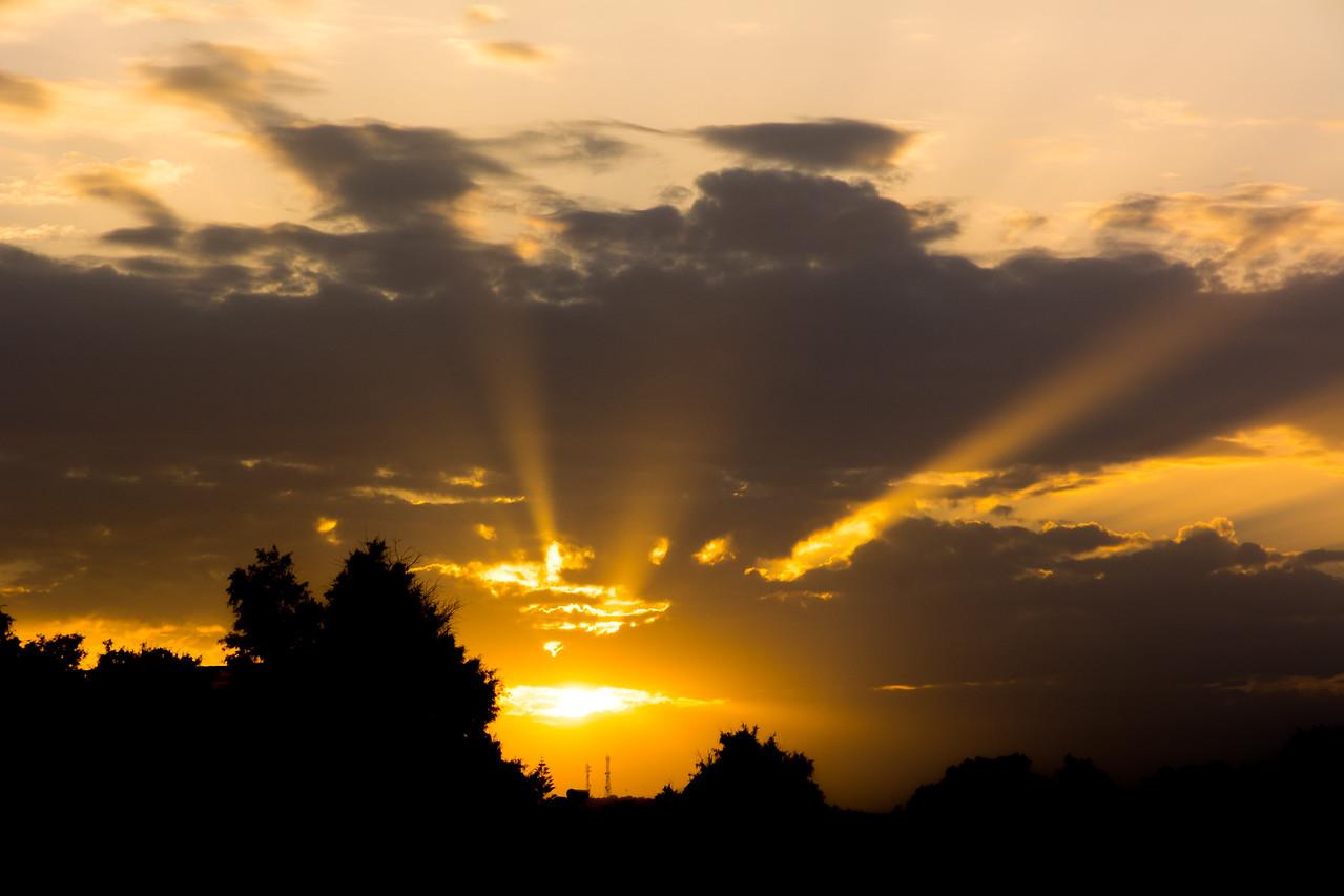 Sunset in Platanias