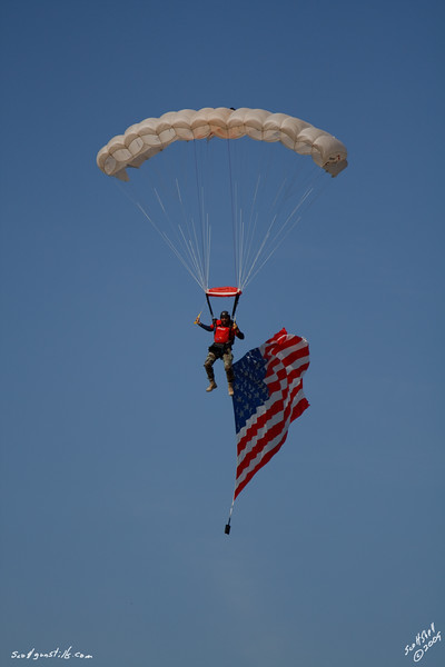 Dave Strobel doing his first Flag Jump.