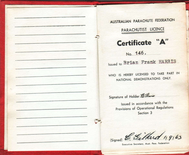 APF Licence N0  146
