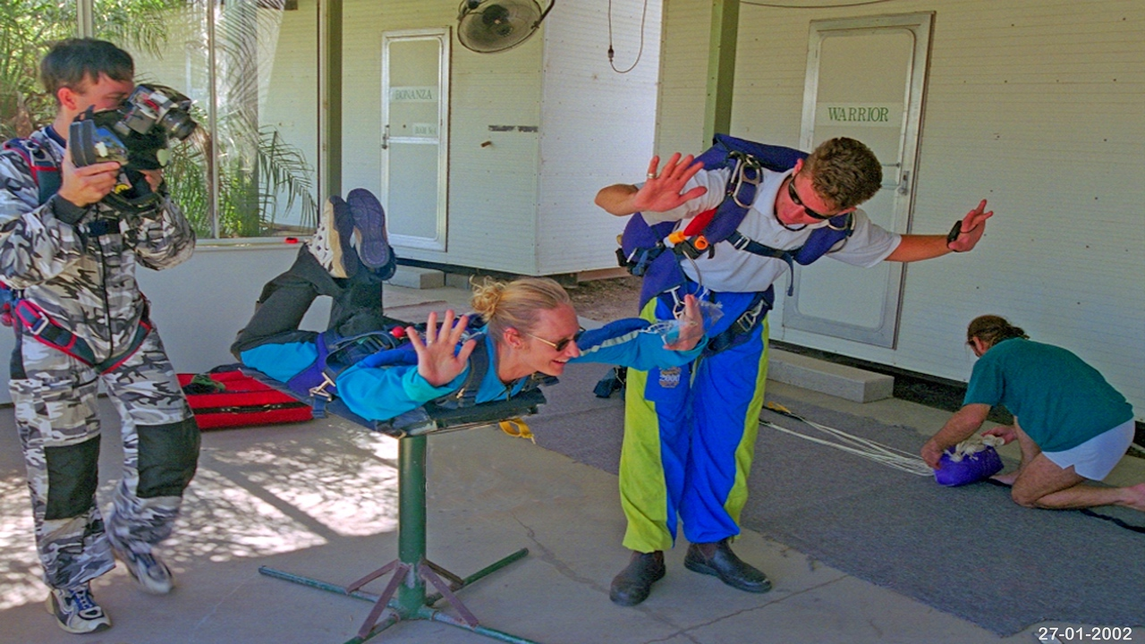 Nell trains for Tandem jump