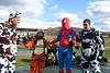 Spiderman organizes the costume jump dirt dive. 11/4/06