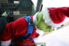 Skydiving Grinch: The Grinch checks the spot.  12/31/06