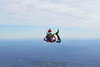 Skydiving Grinch: The Grinch poses.  12/31/06