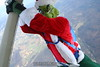 Skydiving Grinch: The Grinch hangs from the strut.  12/31/06