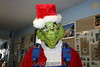 Skydiving Grinch: The Grinch, ready to go.  12/31/06