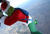 Skydiving Grinch: The Grinch climbs out.  12/31/06