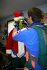 Jeff adjusts the Grinch's goggles.  12/31/06