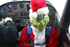 Skydiving Grinch: Grinch in the plane.  12/31/06