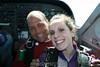 Erin enjoying the plane ride.