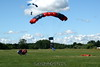 Nick lands his tandem with Jim N. on final behind him after his first wingsuit jump! 7/1/07