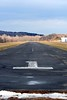 Damp runway...  still a little of the white stuff around, making a melty, muddy mess. 2/2/08