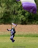 Kristin lands after her eleventy billionth jump as an AFF instructor (approximate). 5/18/08