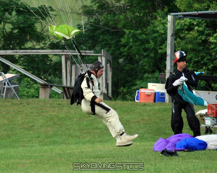 Randy lands in front of Jack. 6/15/08