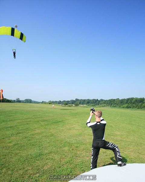RipcorD films a student landing. 6/28/08
