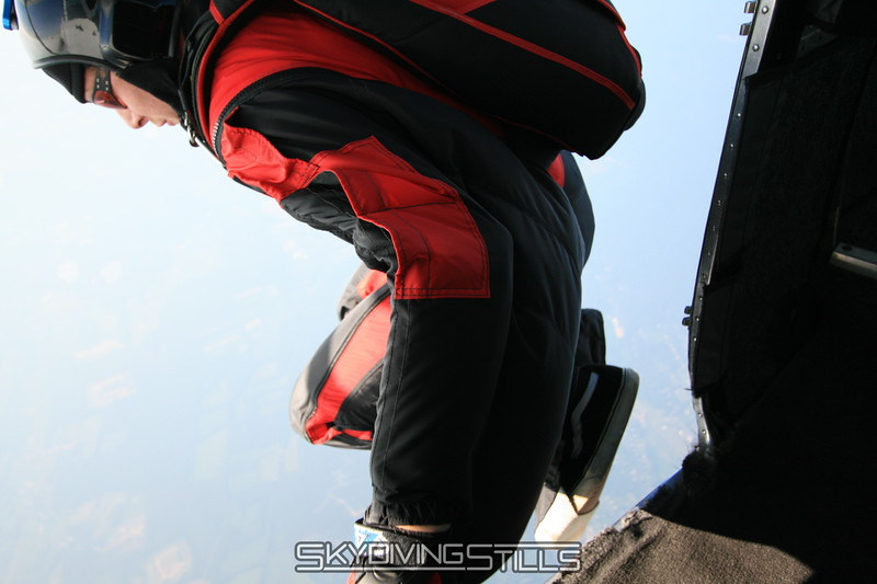 Brian exits on a wingsuit jump. 7/12/08