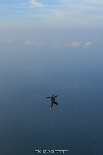 Rob in a sit.  Pretty much the only semi-decent freefall pic from that jump. 7/6/08