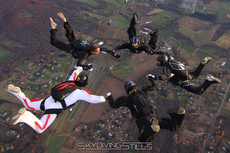 Roger Ponce marks his 39th consecutive year of jumping at CPI. 11/1/09. Published in Parachutist, February 2010.
