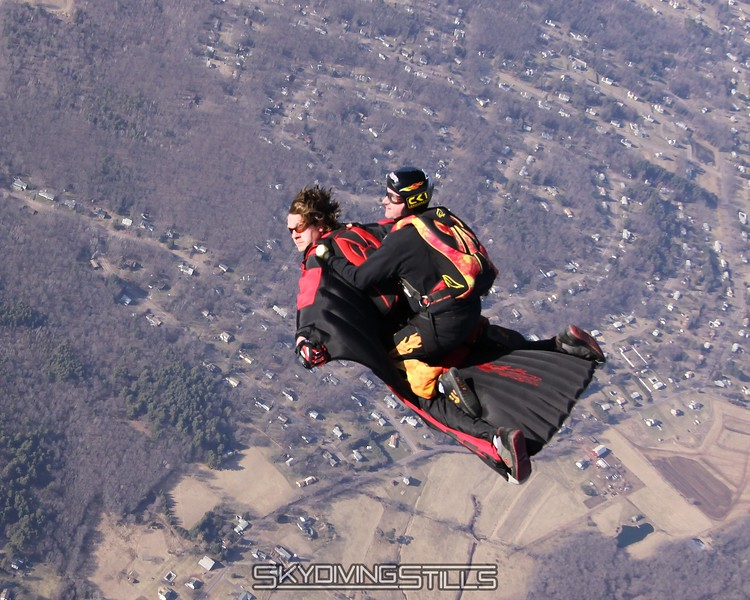 Woohoo!  Perfectly executed wingsuit rodeo. 3/15/09
