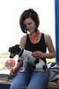 Kassie does some dog sitting. 4/18/09