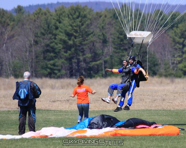 Tandem landing. 4/25/09