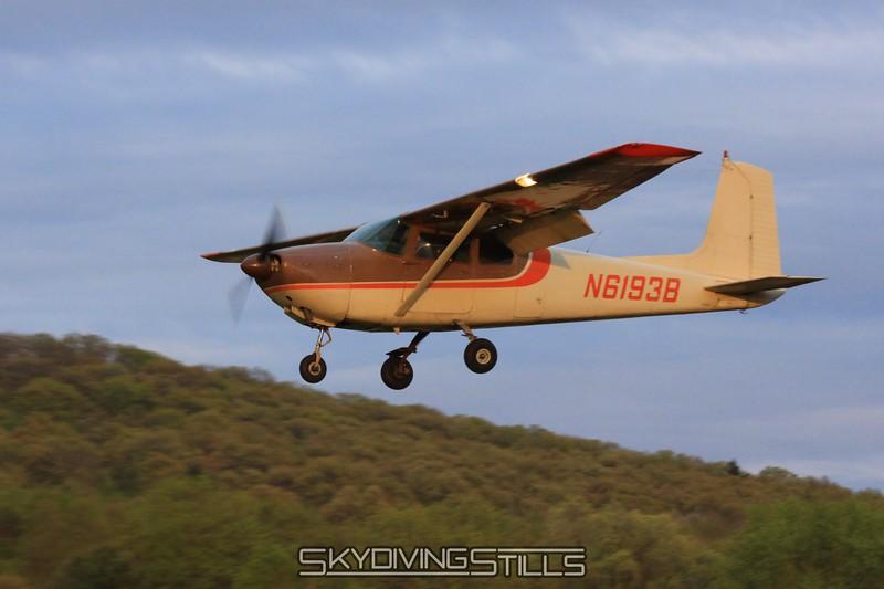 Cessna 182 in the pretty dusk light. 5/2/09