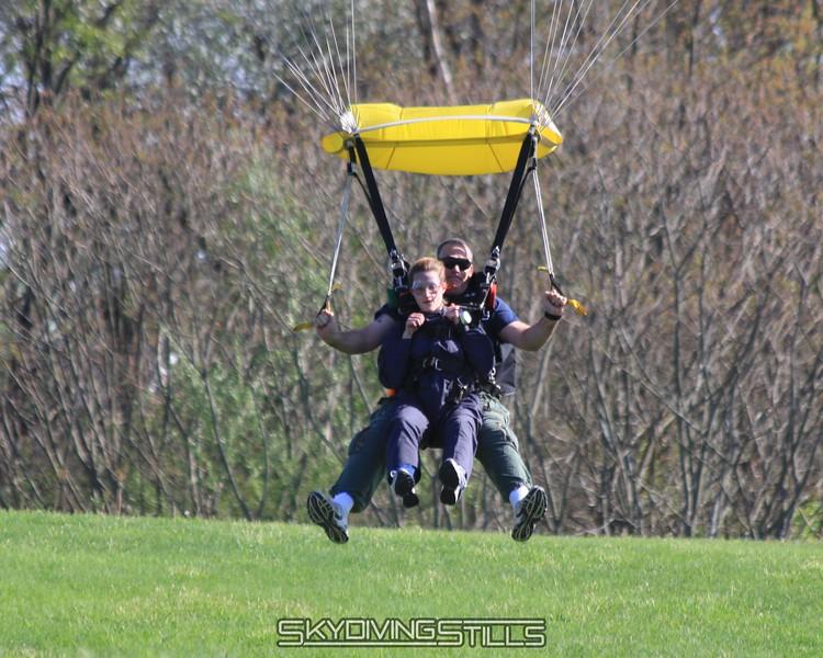 Jim lands his tandem. 5/2/09