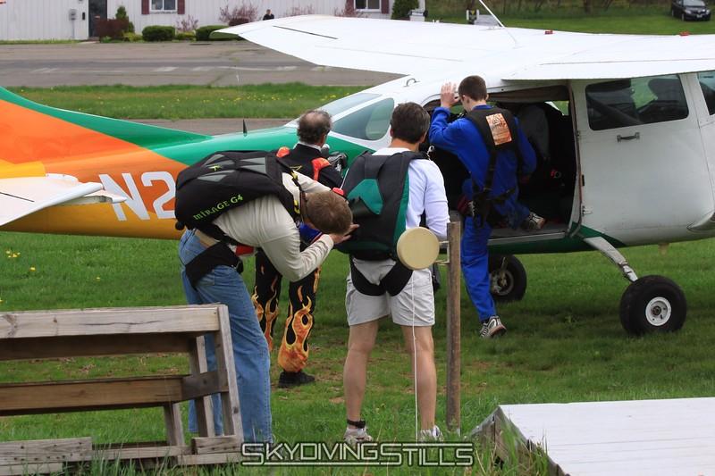 Coach Don gives Coach Alex a gear check. 5/2/09