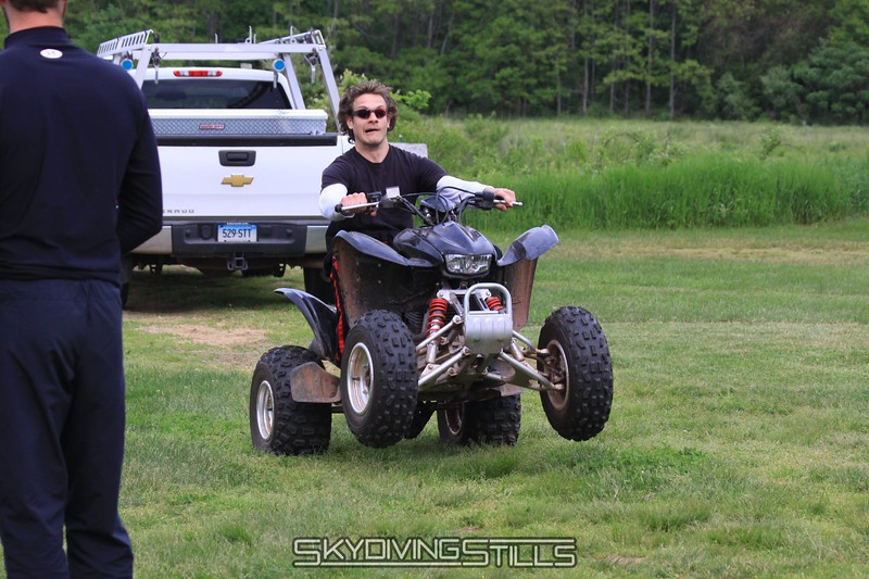 Brian takes the quad for a spin. 5/23/09