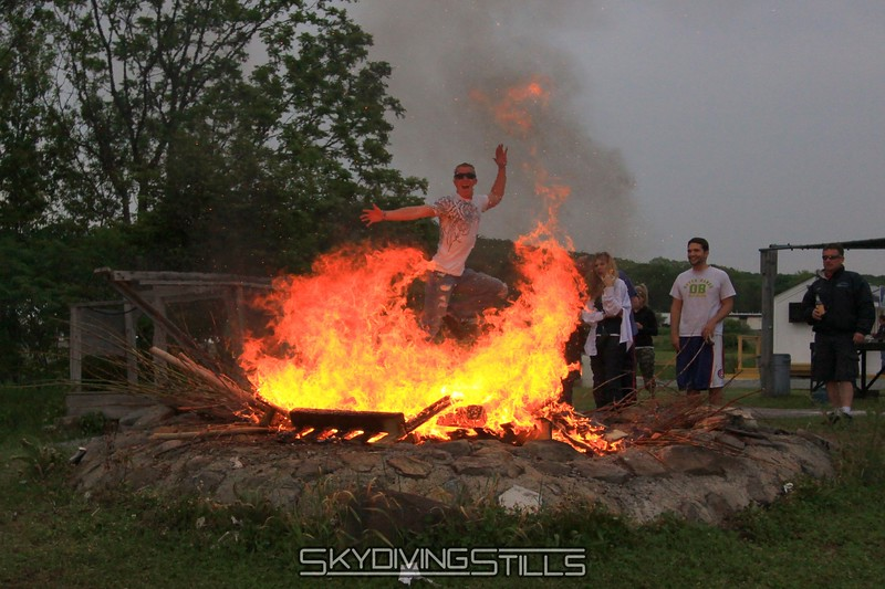 RipcorD jumps the raging bonfire. 5/23/09