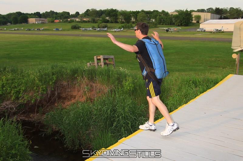 Corey BASE jumps the bridge. 5/22/09