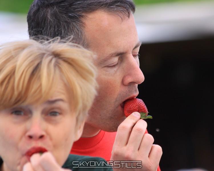 Chris and Chris REALLY enjoy their strawberries. 5/23/09