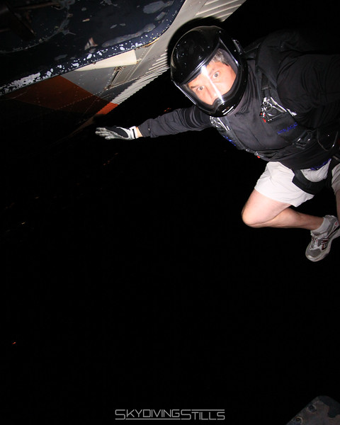 Alex exits on his first night jump on his birthday! 5/8/09