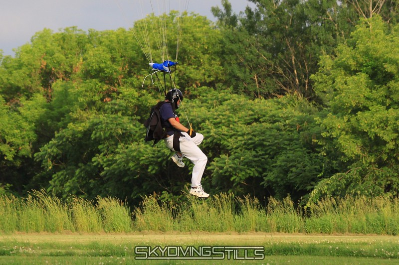 Amit lands kicking and screaming.  Well...kicking. 6/13/09