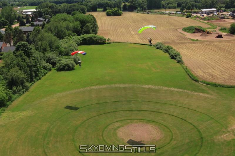 Landing side by side.   6/6/09